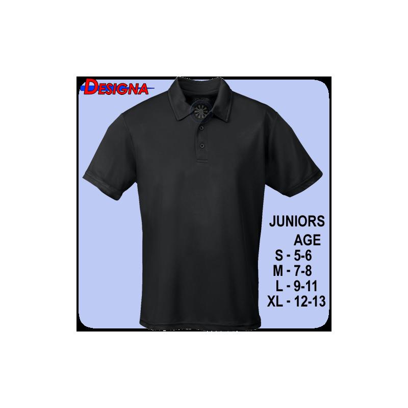 Designa Shirt Kids Zwart (9-11)
