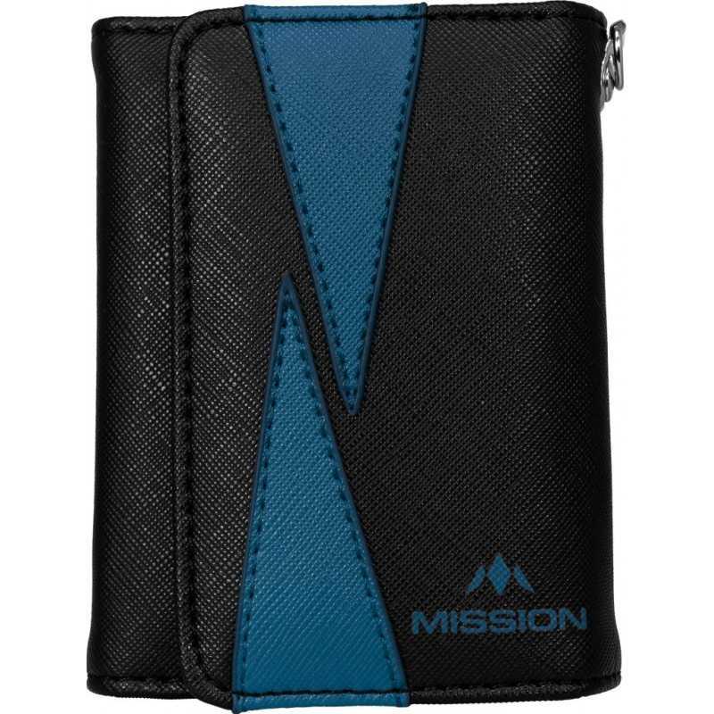 Mission Dart Wallet Flint Leather Zwart/Blauw