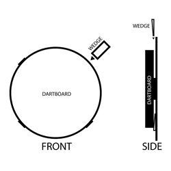 Shot Dartbord Wedges